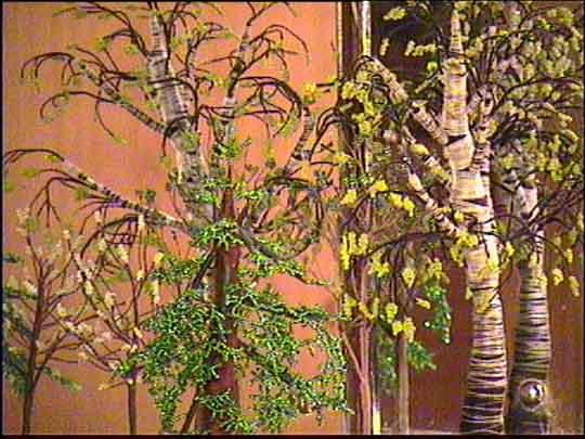 """Biser P.S. Бисерные работы.  Панорама из сказки  """"Колобок """"."""